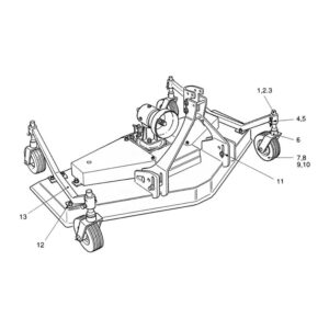 CR-15/2 & 15/4 4 Wheel Assembly