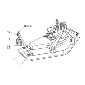 CR-15/2 & 15/4 2 Wheel Assembly