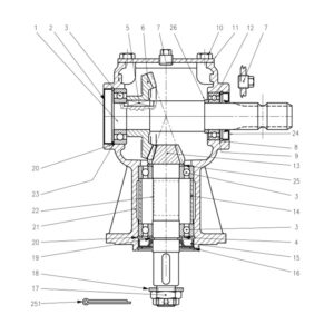 CR-15/2 & 15/4 Gearbox-Part No. WX-5257