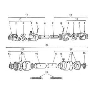 CR-24/2 & 24/4 PTO Shaft-Part No. WX-5681