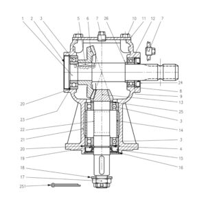 CRX-150 180 240 Gearbox-Part No. WX-5257