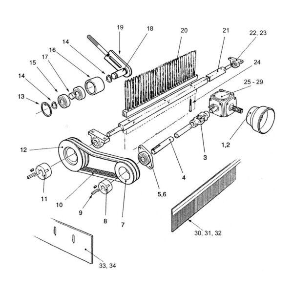 Brush Carrier Fastening Set -0