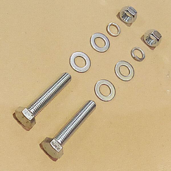 Tine bar fastening set