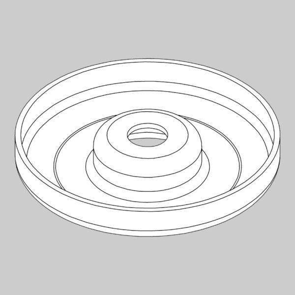 Anti-scalp boss - 21mm hole