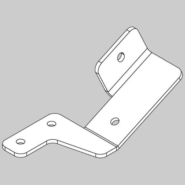 Hopper stop bracket - left hand -0
