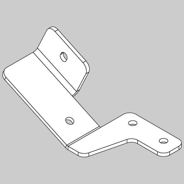 Hopper stop bracket - right hand -0