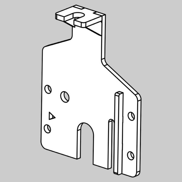 Rear Roller Fixed Plate - Left Hand