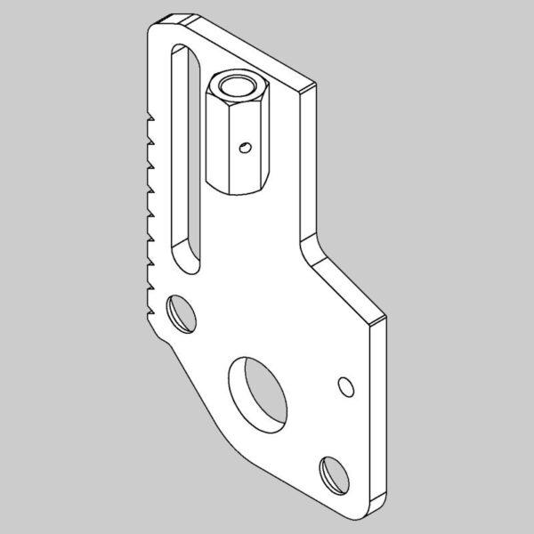 Rear Rolling Sliding Plate - Left Hand -0