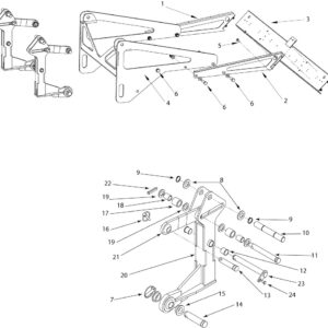 RMX-500 REAR DECK ASSEMBLY WITH LIGHTBOARD AND LEG