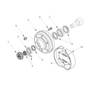 RMX-560/680/800 BRAKED HUB ASSEMBLY