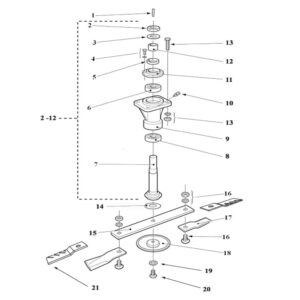 RMX-560/680/800 SPINDLES ASSEMBLY