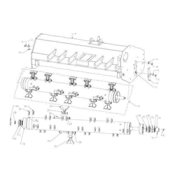 Hex Bolt - M16x2x90 - Flail Mower 115