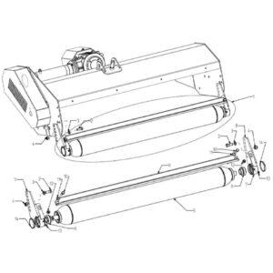 WFM 145/160/175/205/220 - Rear Roller Assembly