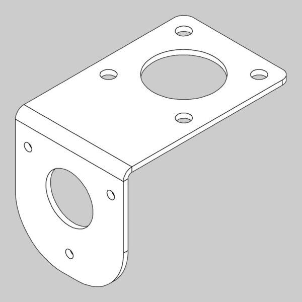 Pto bucket mount- comer gearbox