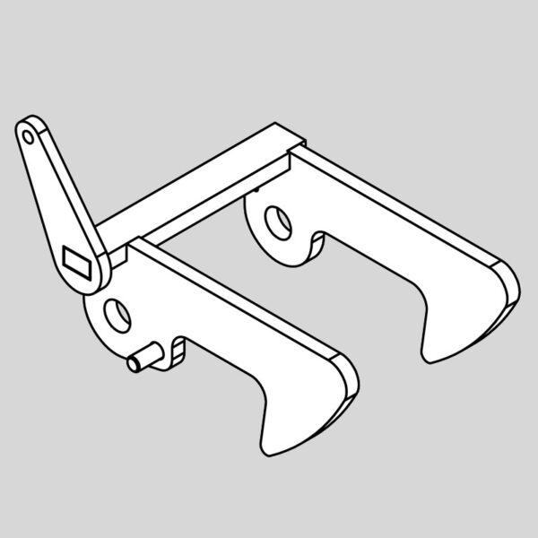 Wessex wx-46380 crx 320 rear deck latch hooks rhs-0