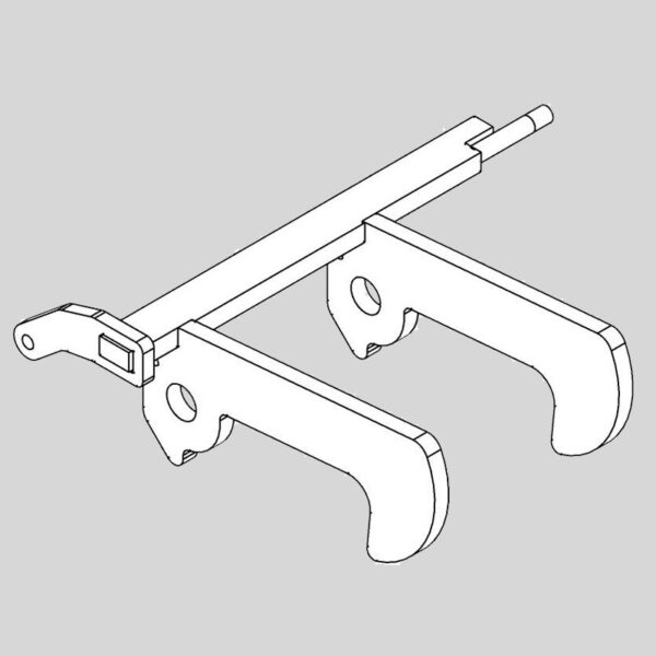 Wessex wx-48380 crx320 centre latch hook assy-outer-0