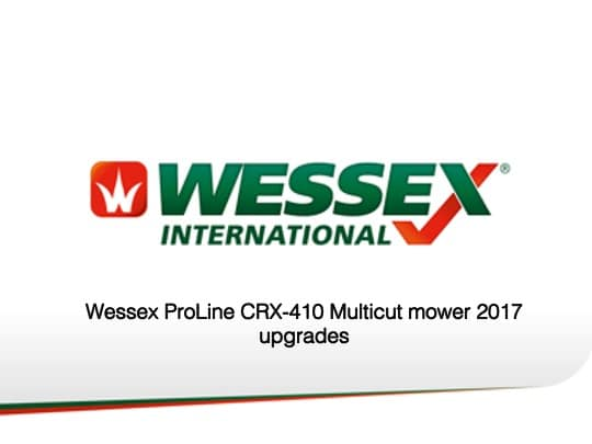 Crx 410 updates - professional groundcare & agricultural equipment
