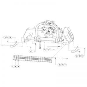WFM 200/225 HD - Front Guard and Side Skid Assemblies