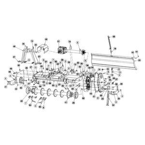 rc120 main frame rotar asse