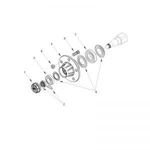 rmx 500 unbraked hub assemb