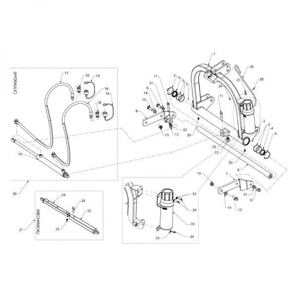 Mast weldment - hydraulic (sfm)
