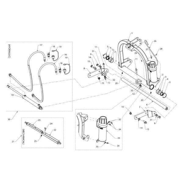 Guide bar - (l=1080mm) (sfm)