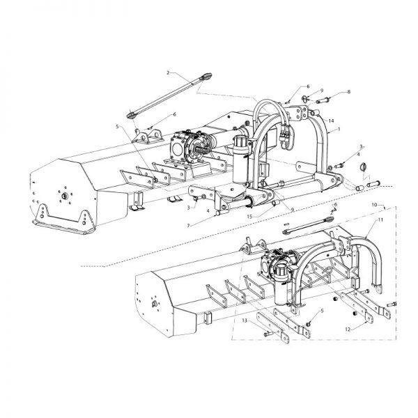 3 point mast hydraulic assembly