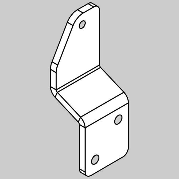 Wessex wx-17358 front ram mount bent bracket-0